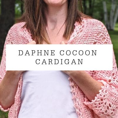 Daphne cocoon cardigan crochet pattern by Sincerely Pam