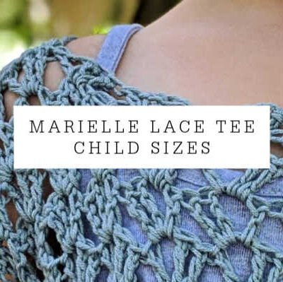 Marielle Lace Tee Child Sizes 2-12