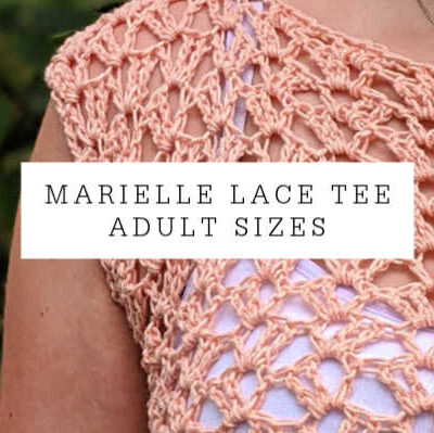 Marielle Lace Tee Adult Sizes XS-5X