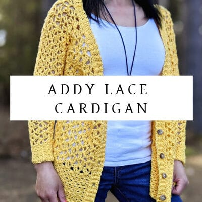 Addy Lace Cardigan Crochet Pattern | Ladies Sizes XS-5X