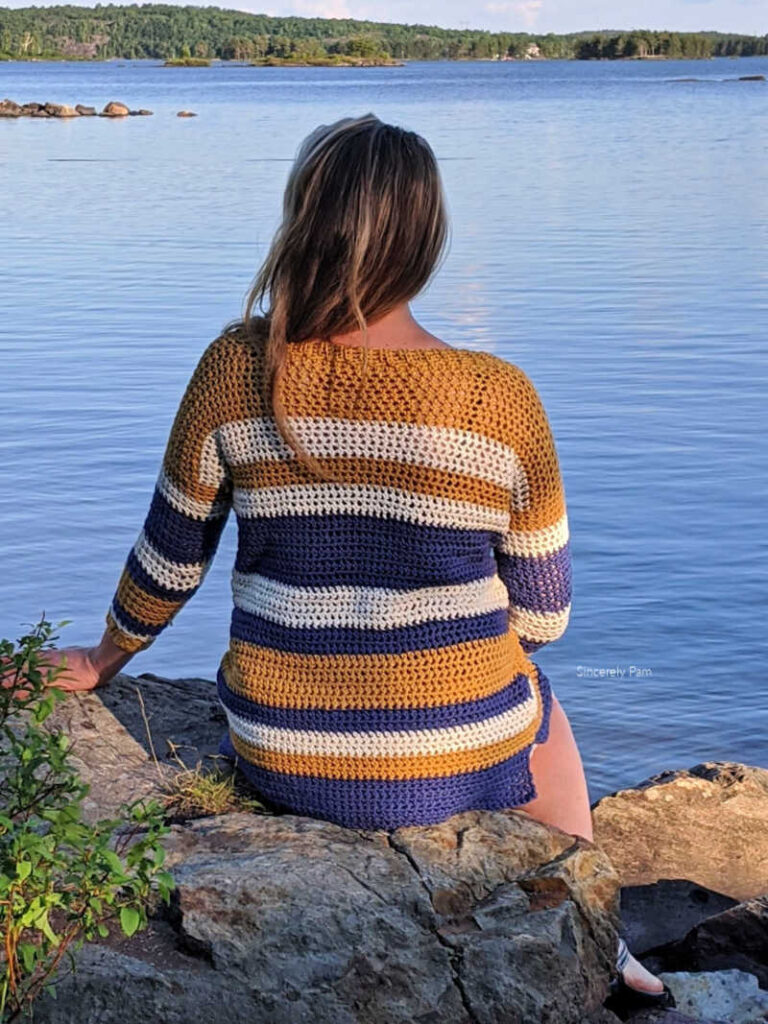 Beach Day pullover crochet pattern by sincerely Pam