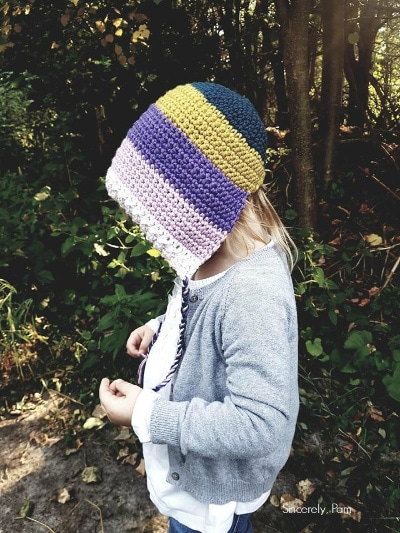 Easy Peasy Bonnet Crochet pattern by sincerely pam