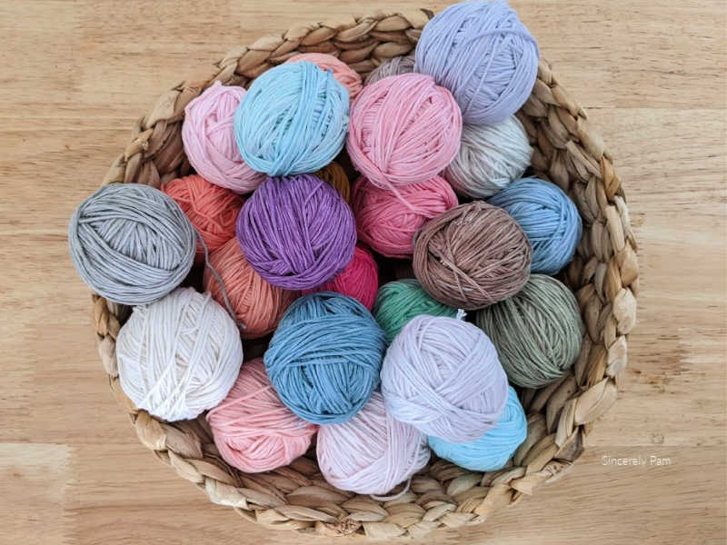 yarn cakes that have been deconstructed