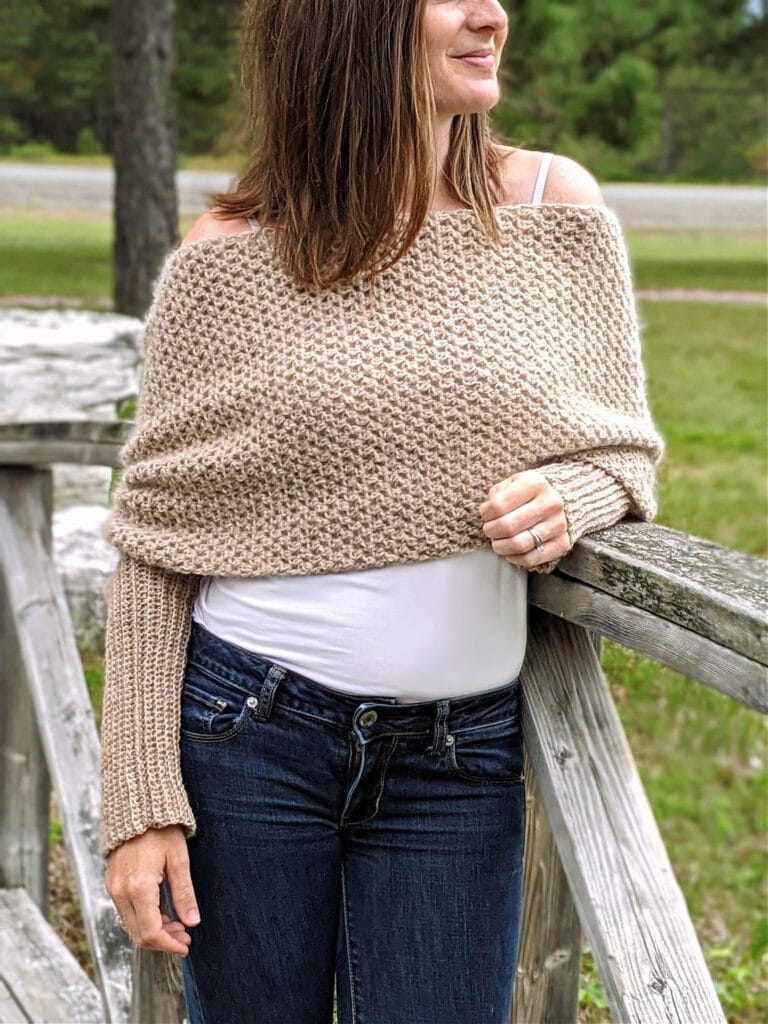 Vienna Convertible Shrug crochet pattern by sincerely pam