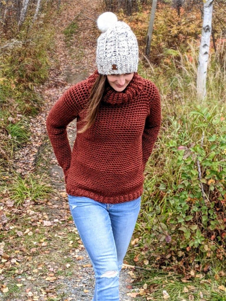 Sunday Sweater crochet pattern ladies sizes XS-5X.
