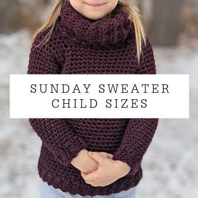 Sunday Sweater Child Sizes Crochet Pattern