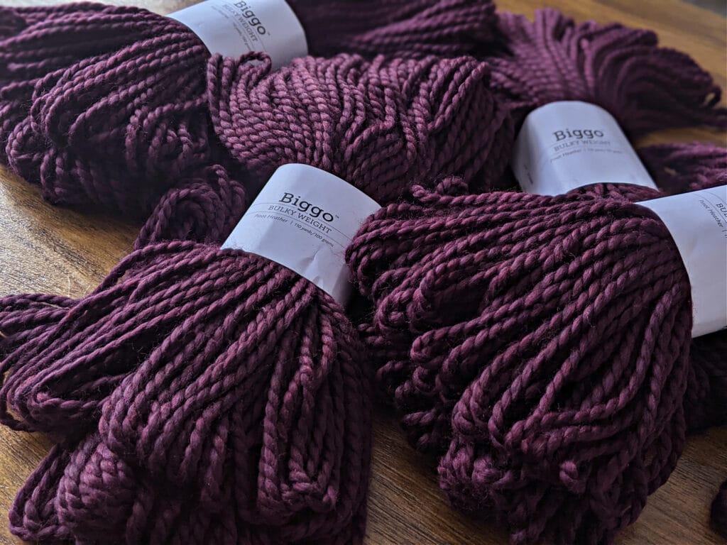 biggo yarn by wecrochet in pinot heather
