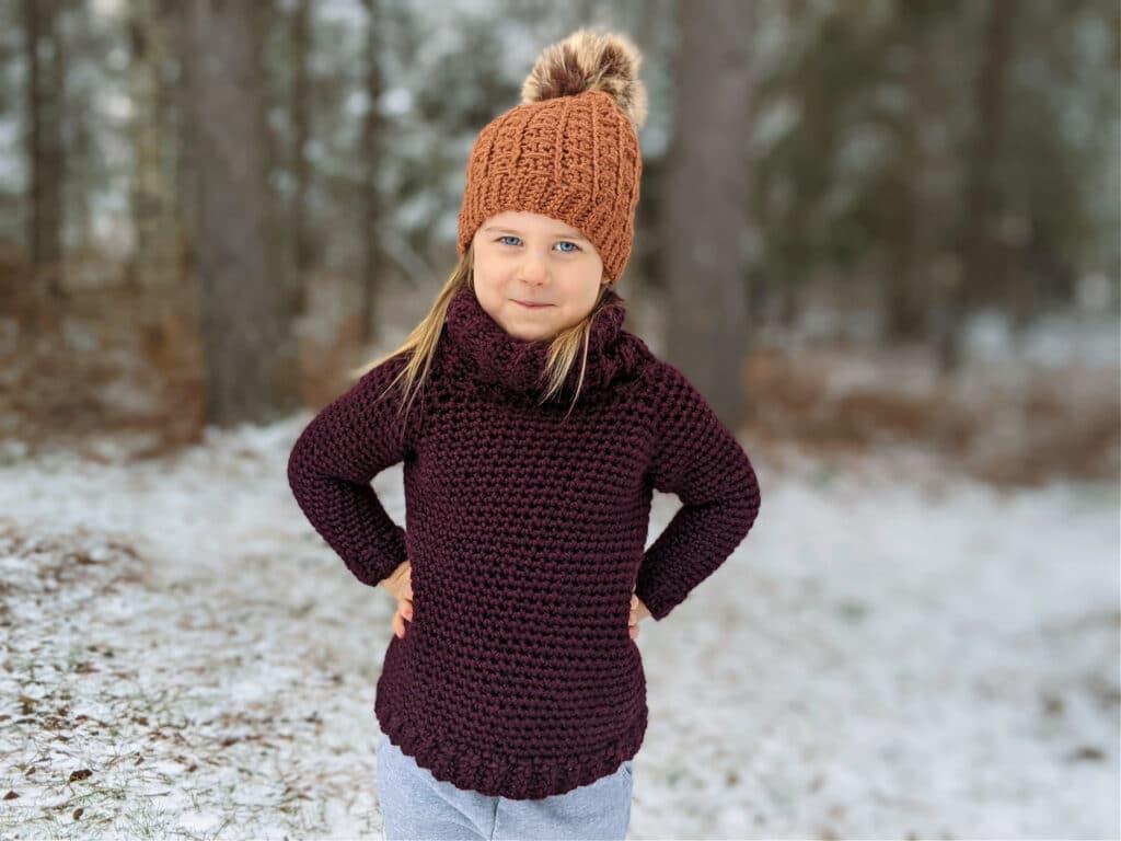 Sunday Sweater child size crochet pattern