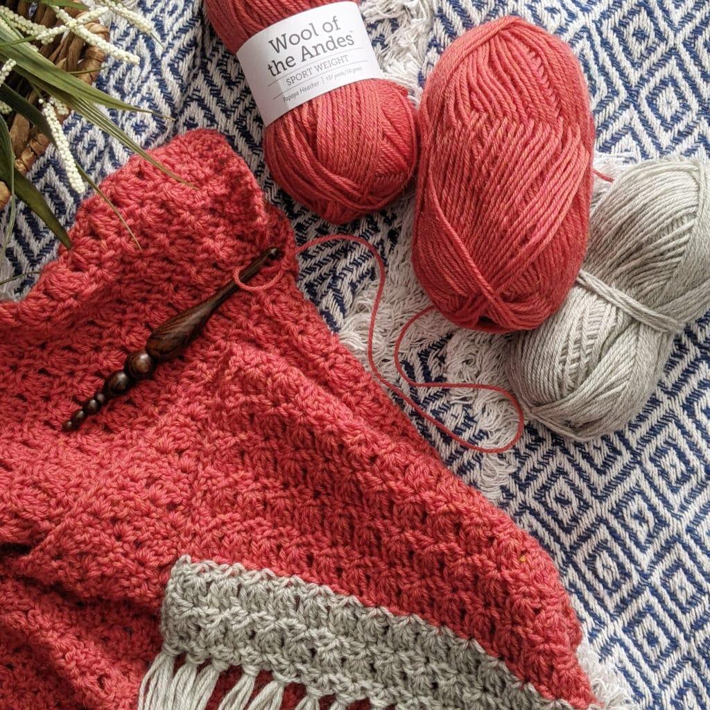 wool of the andes tweed sport yarn