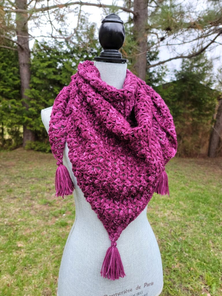 victoria shawl crochet pattern by sincerely pam