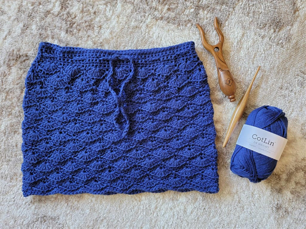 delphinium summer skirt crochet pattern