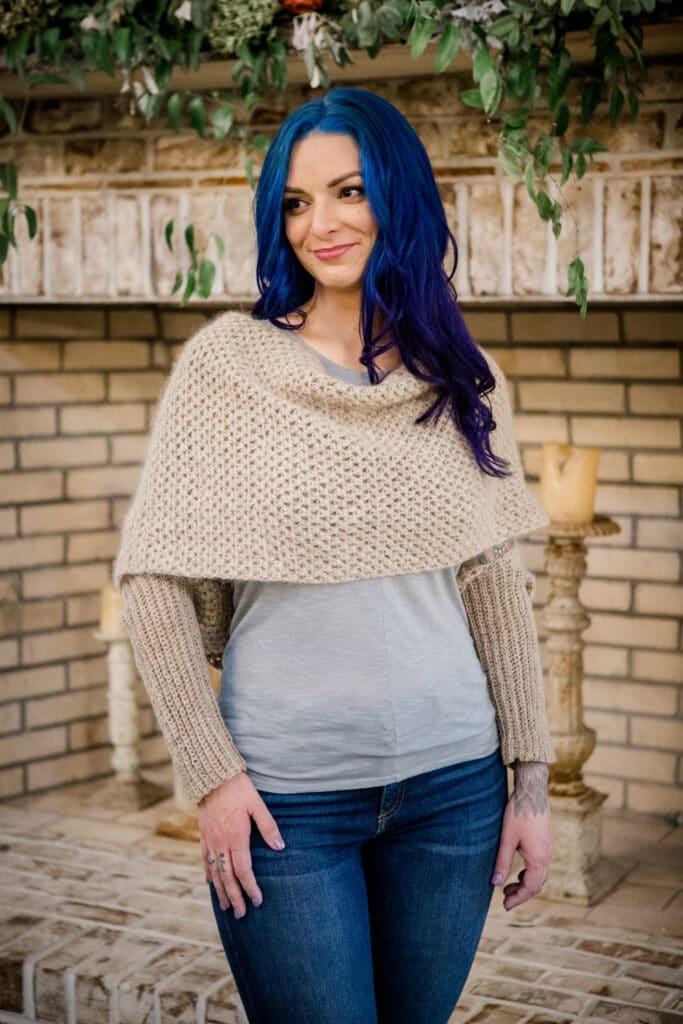 vienna convertible shrug crochet pattern